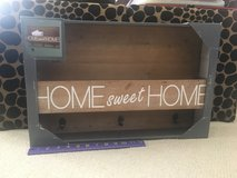 "New!  ""Home Sweet Home"" Mail Holder with Hooks in Chicago, Illinois"