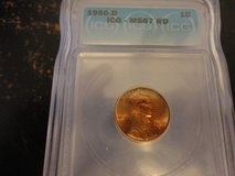 1950d ms67 rd lincoln cent lists for $1100.00 in Fort Campbell, Kentucky