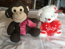2 Valentines Stuffed Animals in Clarksville, Tennessee