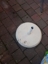 Patio umbrella stand in Ramstein, Germany