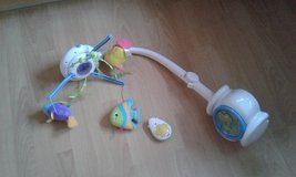 Fisher price ocean sounds baby mobile with remote in Lakenheath, UK