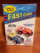 Craft Kit - paint 2 wood cars ***NEW*** in Shorewood, Illinois