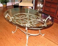 Glass Top Coffee Table (tempered glass) Excellent condition in Beaufort, South Carolina