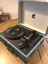 Briefcase record player in Lakenheath, UK