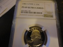 1981s type 2 pr69 ultra cameo quatrer ngc in Fort Campbell, Kentucky