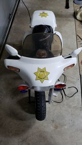 Police motorcycle motorized ride on-12V in Kingwood, Texas