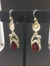 Garnet Earrings - Sterling silver in Fort Leonard Wood, Missouri