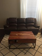 Brown Leather Couch in Oswego, Illinois