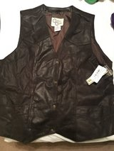 Leather Vest NWT in Warner Robins, Georgia
