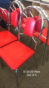 Set of 4 Red Chairs (New) in Fort Leonard Wood, Missouri