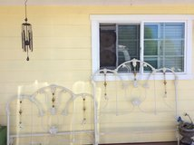 vintage wrought iron full size headboard and footboard in Camp Pendleton, California