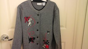 Love Cat &  Kittens? Womens Size L.  Jacket Excellent condition in Yorkville, Illinois