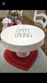 RAE DUNN HAPPY SPRING CAKE STAND in Tomball, Texas