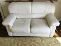 White Leather two sea couch in Wheaton, Illinois