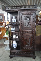 gorgeous Breton cabinet with beautiful carvings in Spangdahlem, Germany