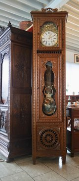 Comtoise grandfather clock from Brittany in Stuttgart, GE