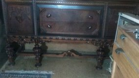 Antique dining table, chairs, and buffet in Lawton, Oklahoma