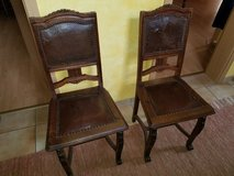 Antique German Chairs, Pair in Spangdahlem, Germany