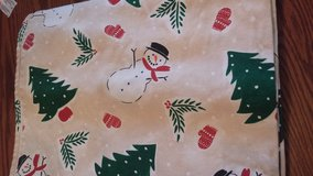Christmas/winter table cloth in Beaufort, South Carolina