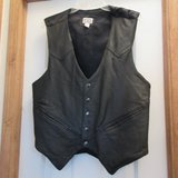 Mens Black Leather Western Vest in Conroe, Texas