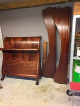 Antique twin size flame mahogany bed in Camp Lejeune, North Carolina