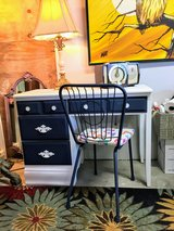 Solid maple chalk painted desk & chair in Camp Lejeune, North Carolina