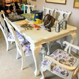 Chalk painted dining table &6 chairs in Camp Lejeune, North Carolina