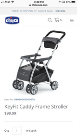 Brand New / In Box Chicco KeyFit Caddy Baby Stroller (Car Seat Carrier) in Wheaton, Illinois