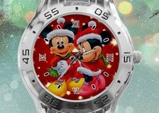 Mickey Minnie mouse art Custom Stainless Steel Analogue Men Or Women Unisex Watch Best Gift in Moody AFB, Georgia