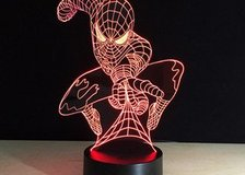 Super Hero Spiderman 3D Table Lamp Optical Illusion Bulbing Night Light 7 Colors Changing Mood Lamp in Moody AFB, Georgia