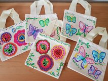 Handmade -All New,  5 Small Canvas Bags 5.25 x 5.75 inches in Ramstein, Germany