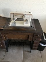 Old Alcol sewing machine with pedal in Alamogordo, New Mexico