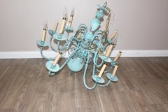 Shaby Chic Vintage Turquoise Chandelier in Spring, Texas