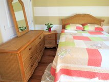 Beautiful Wicker & Wood Queen size Bedroom set in Beaufort, South Carolina