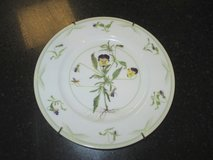 """Fitz & Floyd plate - """"c1997 TMB"""" plate w/pansy design in Glendale Heights, Illinois"""