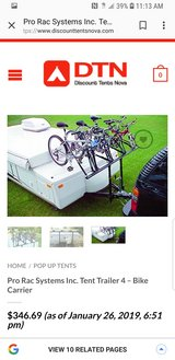Bike rack for pop up camper in Kingwood, Texas