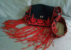 Black and Red Leather Purse in Lawton, Oklahoma