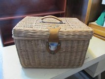 Vintage Wicker Picnic Basket in Yorkville, Illinois