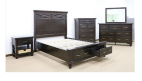 United Furniture - Cross QS Bed Set - New Item - including delivery in Grafenwoehr, GE