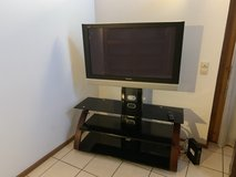 Panasonic TV and stand in Ramstein, Germany
