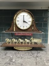 Vintage Budweiser Clydesdale Double-Sided Hanging Light Beer Clock in Naperville, Illinois