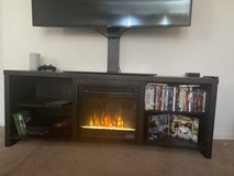 Samsung cerve/ fire place tv stand in Camp Pendleton, California