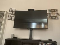 Samsung 55inch smart 4K Curve, glass tv stand in Camp Pendleton, California