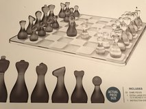 Beautiful Glass & Smoke Glass Chess Set in Houston, Texas