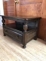 Antique Ercol TV Table with Corner Section (Elm Wood)- Reduced to sell in Lakenheath, UK