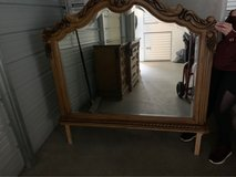 Solid Wood Dresser, Marble Top, with Mirror in Camp Lejeune, North Carolina