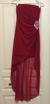Red Strapless Homecoming/Prom formal dress in Joliet, Illinois
