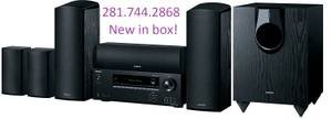 Onkyo 6 Speakers, Receiver all in box, brand NEW! Great gift idea too :-) in Rosenberg, Texas