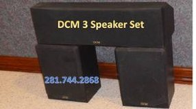 3 DCM Box Speaker Set, Exc, Moving, so call today in Houston, Texas