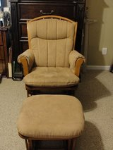 """DUTAILIER SLEIGH GLIDER (SUEDE MATERIAL"""" WITH OTTOMAN RETAIL $499.99 in Camp Lejeune, North Carolina"""
